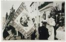 Fahnenweihe  Kriegerverein am 13.05.1956 mit Pfarrer Oskar Baier