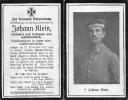 Sterbebilder 1. Weltkrieg